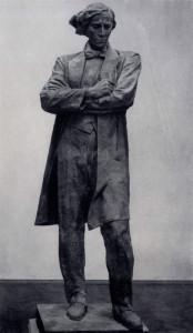 А. П. Кибальников. Н. Г. Чернышевский. Статуя для памятника в Саратове.