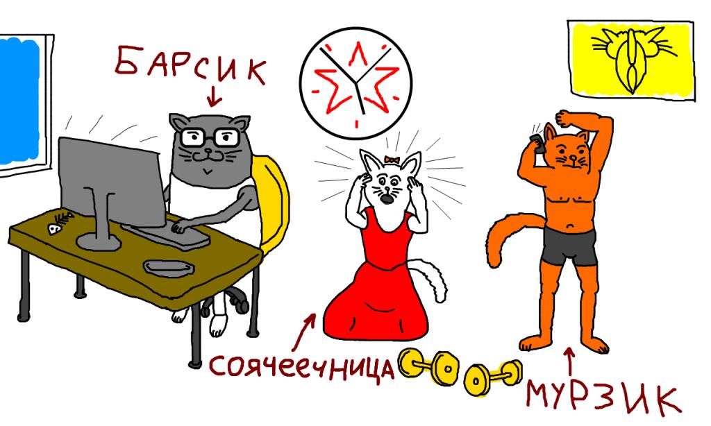 Перекосы в гармоничном развитии, котики