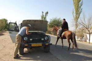 Наш железный конь был по-началу капризен и требовал повышенного внимания. — с Oleg Dvurechenskii.