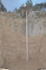 Шурф, открывший рельефы на стенах предполагаемого хауса — с Алексей Горин.