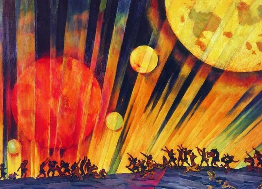 Константин Юон - Новая планета - Новый год - Новый человек